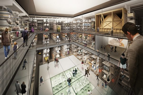 Internal render view of the new V&A collection and research centre at Here East, designed by Diller Scofidio + Renfro © D (1)