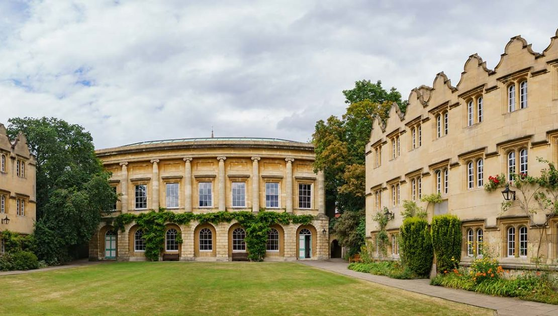 The historical and beautiful building of the Oriel College